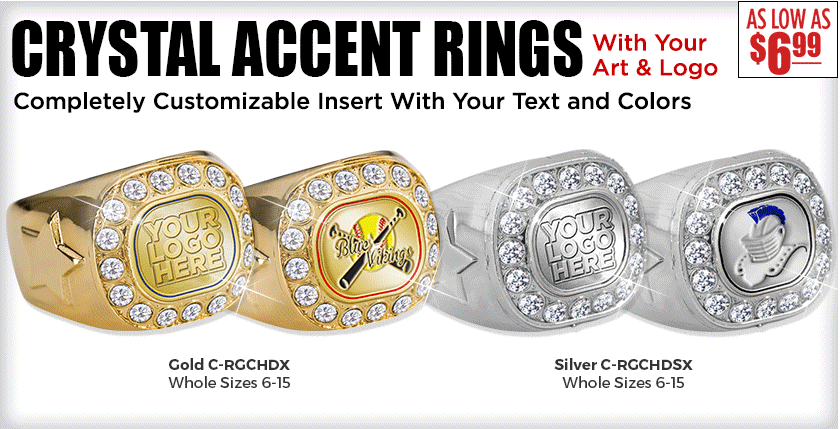 Crystal Accent Rings