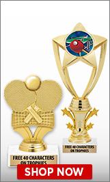 Table Tennis Trophies