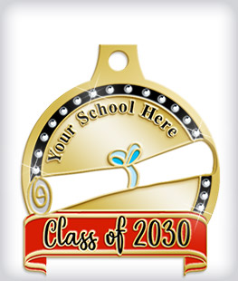 Rhinestone Custom Scholastic Medals