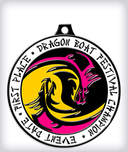 Black Dyed Custom Dragon Boat Medals