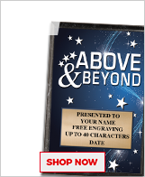 Above & Beyond Awards Plaque