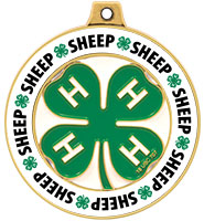 "2"" 4-H Sheep Rimz Medal"