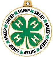 "2"" 4-H Sheep Rimz Medal"