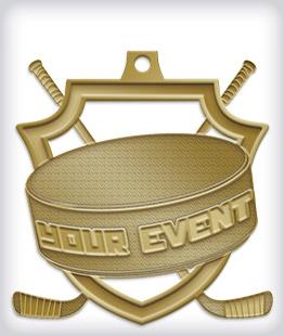 Antique Gold Custom Hockey Medals