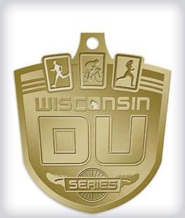 Antique Gold Custom Triathlon Medals