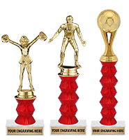 "8"" - 12"" Red Momentum Trophies"