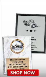 Snowmobile Plaques