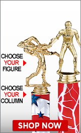 Wrestling Column Trophies