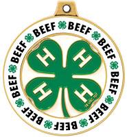 "2"" 4-H Beef Rimz Medal"