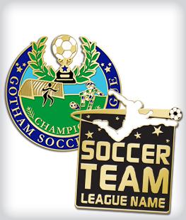 Custom Soft Enamel Soccer Pins