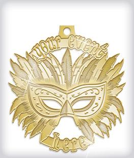 Shiny Gold Custom Fiesta Medals