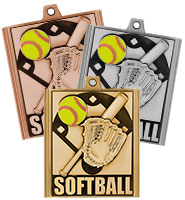 "2 1/4"" Softball Stepz Medals"