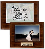 Horizontal Slide-In Photo Frame Plaque