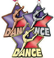 "2 1/4"" Dance Stained Glass Medals"
