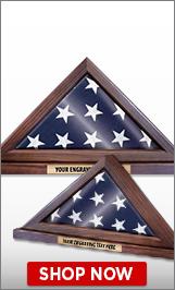 Veterans Dayflag Display Case