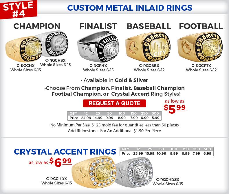 Custom Metal Inlaid Rings