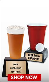 Beer Pong Sculptures