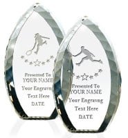 Tear Drop Crystal Award