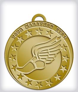 Antique Gold Custom Marathon Medals