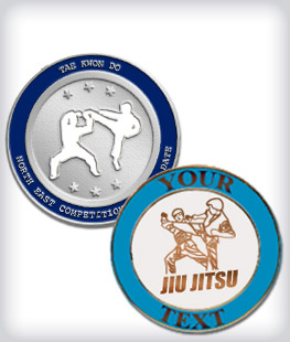 Custom Semi Cloisonne Martial Arts Pins