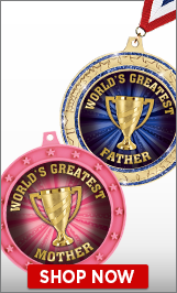 Worlds Greatest Awards Medals