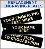 Replacement Engraving Plates For Medals
