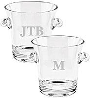 """7"""" Soiree Monogram Ice Bucket"""