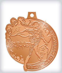 Shiny Bronze Custom Marathon Medals