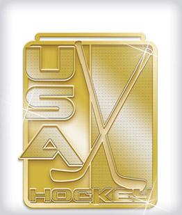Shiny Gold Custom Hockey Medals