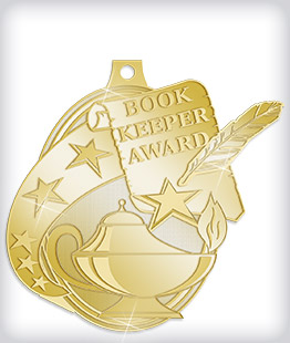 Shiny Gold Custom Scholastic Medals