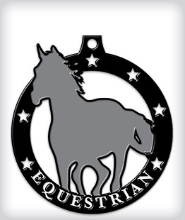 Black Dyed Custom Equestrian Medals