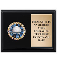 Shiny Black Horizontal Insert Plaque