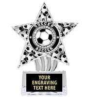 "6"" Soccer Cosmic Icicle Star Insert Trophy"