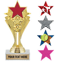 "6 1/2"" Star Center Stage Trophy"