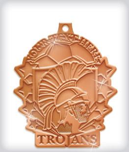 Shiny Bronze Custom Soccer Medals