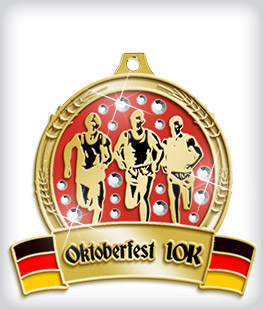 Rhinestone Custom Oktoberfest Medals