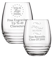 Illustrious Stemless Wine Glasses