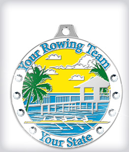 Rhinestone Custom Rowing Medals