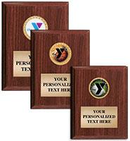 YMCA Classic Walnut Vertical Plaque