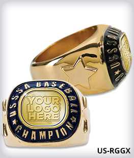 Custom USSSA Champion Ring With Star Side