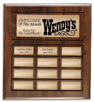 12 Plate Cherry Wood Perpetual Plaque