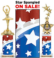 Star Spangled Column Trophies