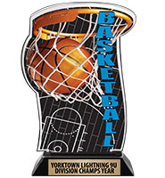 Spectrum Acrylic Basketball Trophy