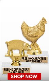 Farm Animals Trophies