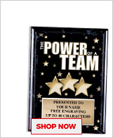 Power Of A Team Plaques