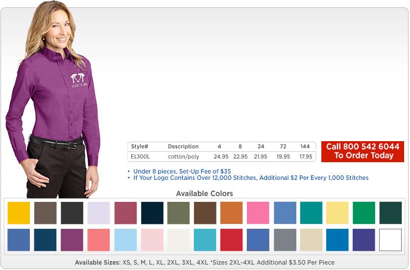 Women's Long Sleeve Dress Shirts