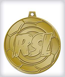 Antique Gold Custom Soccer Medals