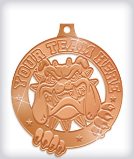 Shiny Bronze Custom Mascot Medals