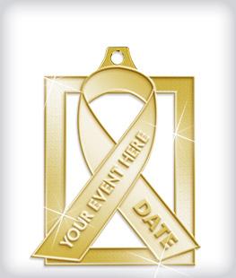 Shiny Gold Custom Awareness Medals