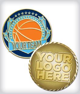 Custom Basketball Coins